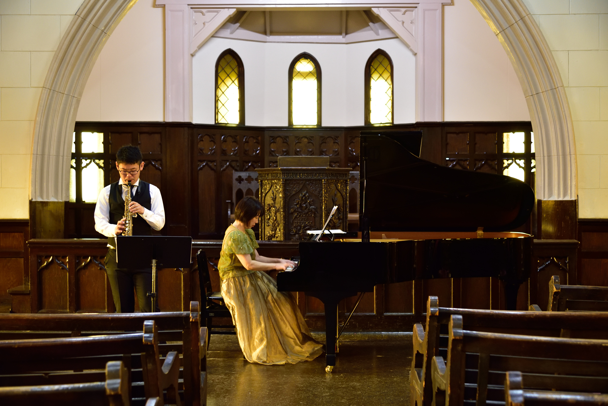 サクソフォンとピアノによる「音の絵」を終えて